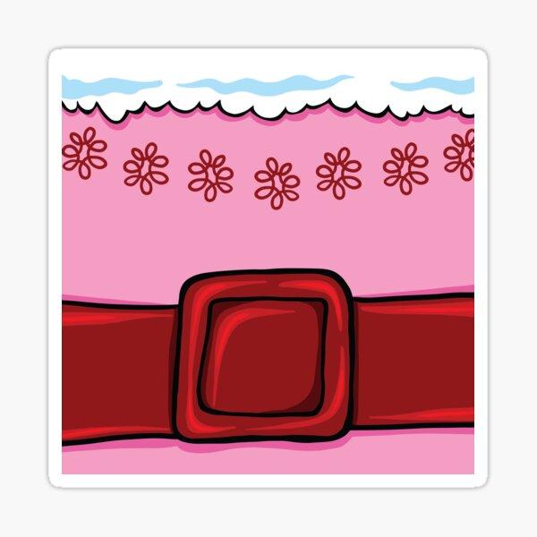Elf Christmas Movie Jovie The Elf Belly, Pink and Red Belt Sticker
