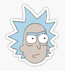 Rick and Morty-- Rick Face Sticker
