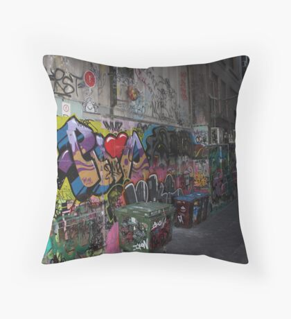 The beauty of the Alley ways Throw Pillow