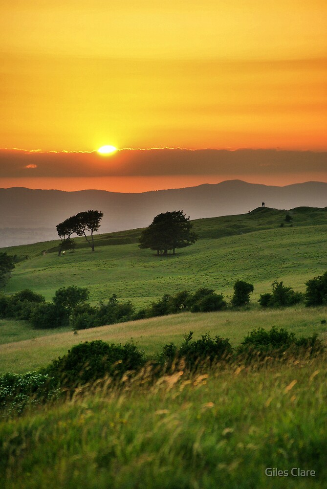 Cleeve Common Sunset, The Cotswolds, England by Giles Clare