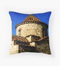 Saint George Makris church Throw Pillow