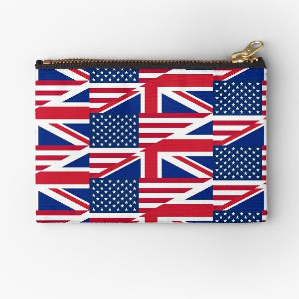 Split US / UK Flag Zipper Pouch