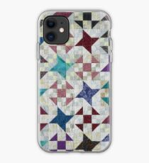 Churn Dash and Falling Stars Quilt iPhone Case