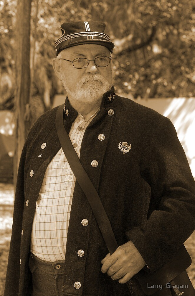 Lost in thought in sepia by Larry  Grayam