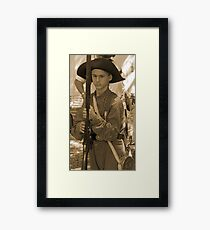 Ready to fight in sepia Framed Print