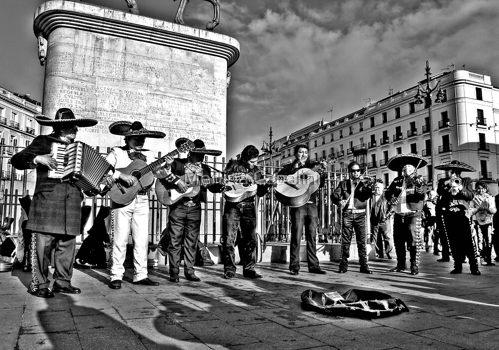 Plaza Musicians by Merlina Capalini