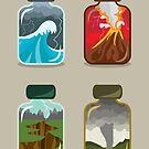 Elemental Bottles by jbott