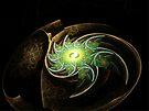 Green Spiral Galaxy  (UF0204) by barrowda