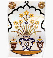 Taj Mahal - Marble Art Poster