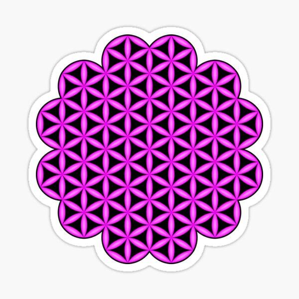 Heart of Life x 6 - Flower of Heart 3D, Violet Sticker