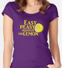 Easy Peasy Squeeze the Lemon Women's Fitted Scoop T-Shirt