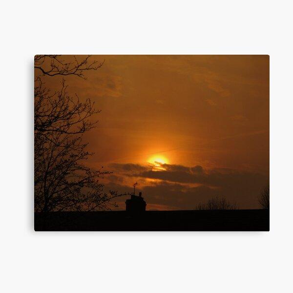 Golden Sunset 02 Canvas Print