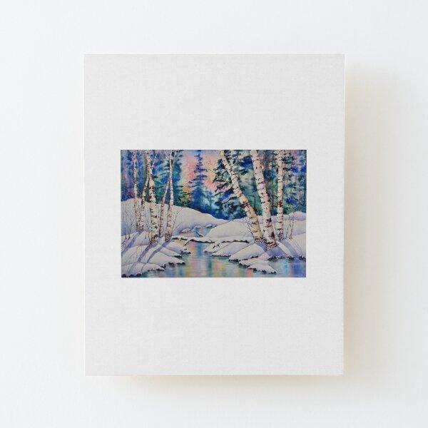 Aspen Winter Sonnenuntergang Aufgezogener Druck auf Holz