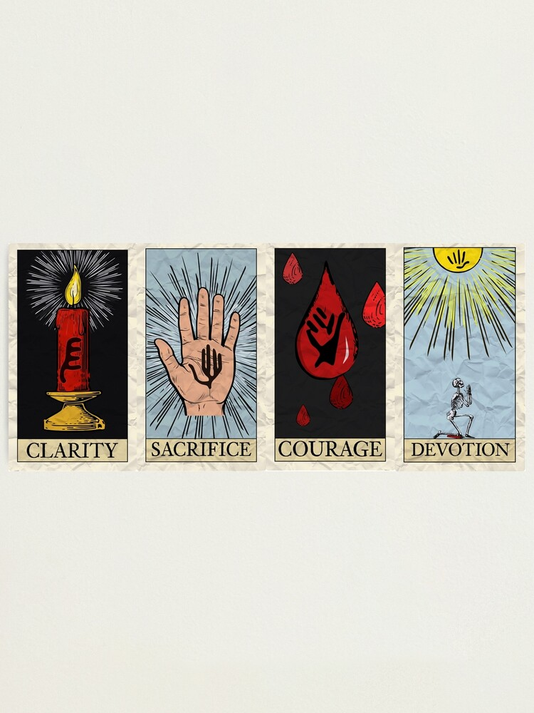 Alternate view of My Chemical Tarot Cards Photographic Print