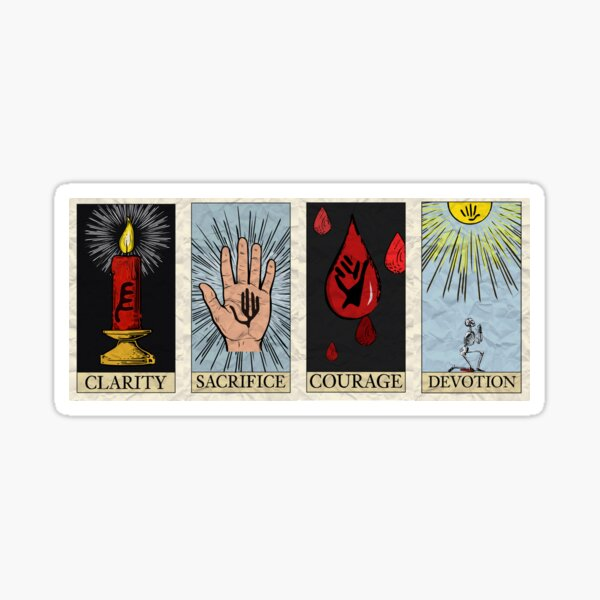 My Chemical Tarot Cards Pegatina