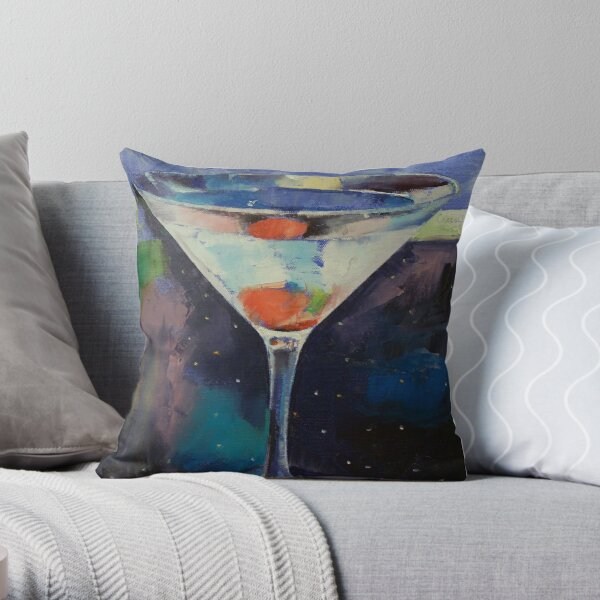 Bombay Sapphire Martini Throw Pillow