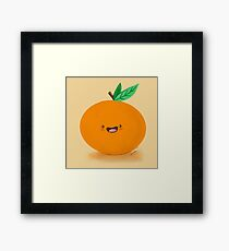 Happy Clementine Framed Print