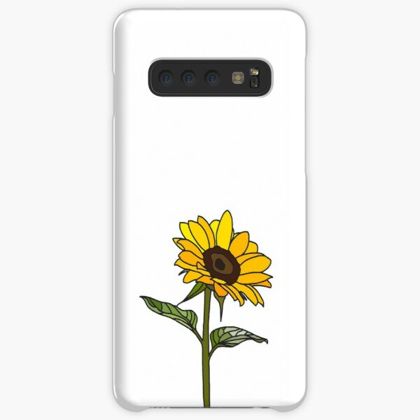 Aesthetic Sunflower on White Samsung Galaxy Snap Case