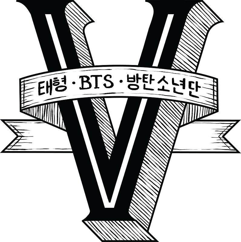 Quot V Bts Member Logo Series Black Quot Art Prints By