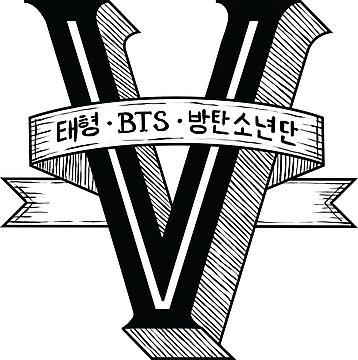 Quot V Bts Member Logo Series Black Quot Photographic Prints