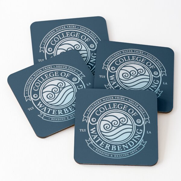 Avatar College of Waterbending, Avatar-Inspired Design Coasters (Set of 4)