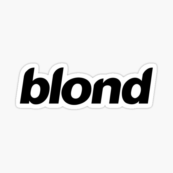blond Sticker