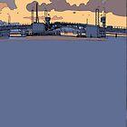 port bridge early morn by David  Kennett