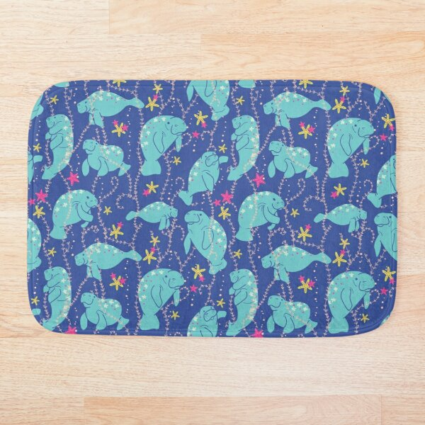 Oh the Hue-Manatee: bright  Bath Mat