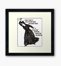 Funny Halloween witch hag big candy bars Framed Print