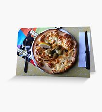 Pizza Il Greco Greeting Card
