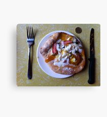 Dessert Pizza Foresta Bianca Canvas Print
