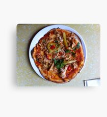 Pizza Verano Aves Canvas Print