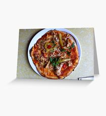 Pizza Verano Aves Greeting Card