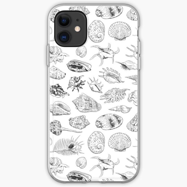 Unique collection of sea shells iPhone Soft Case