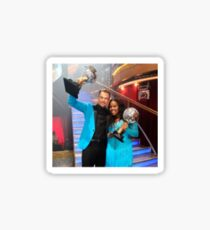 Derek Hough and Amber Riley Sticker