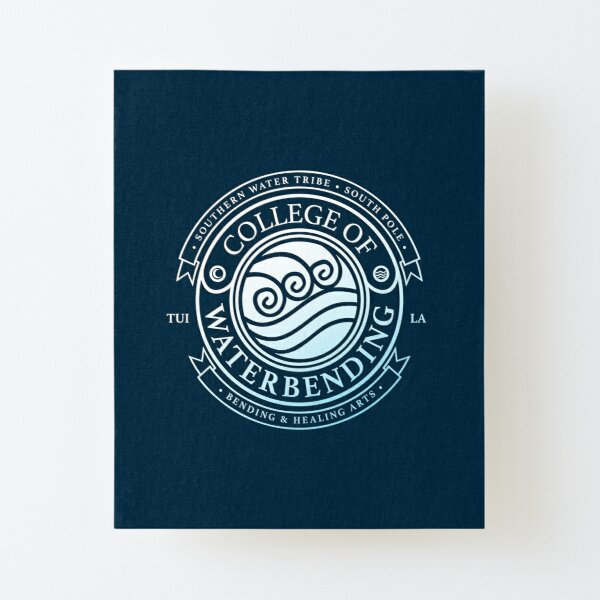ATLA College of Waterbending: Avatar Inspired-Design Canvas Mounted Print
