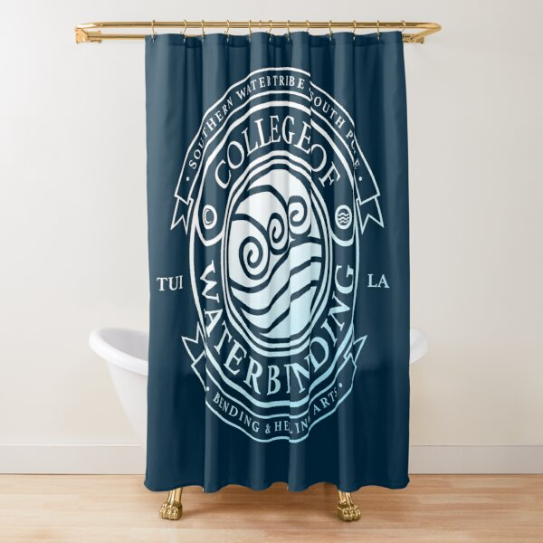 Avatar College of Waterbending, Avatar-Inspired Design Shower Curtain