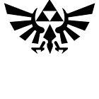 Zelda - Triforce (Black) by JuliaJean1