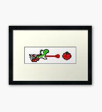 Yoshi - pixel art Framed Print
