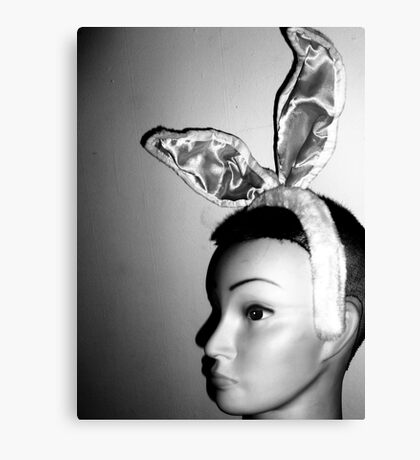 Mandy's Easter Bunny Mug-Shot Canvas Print