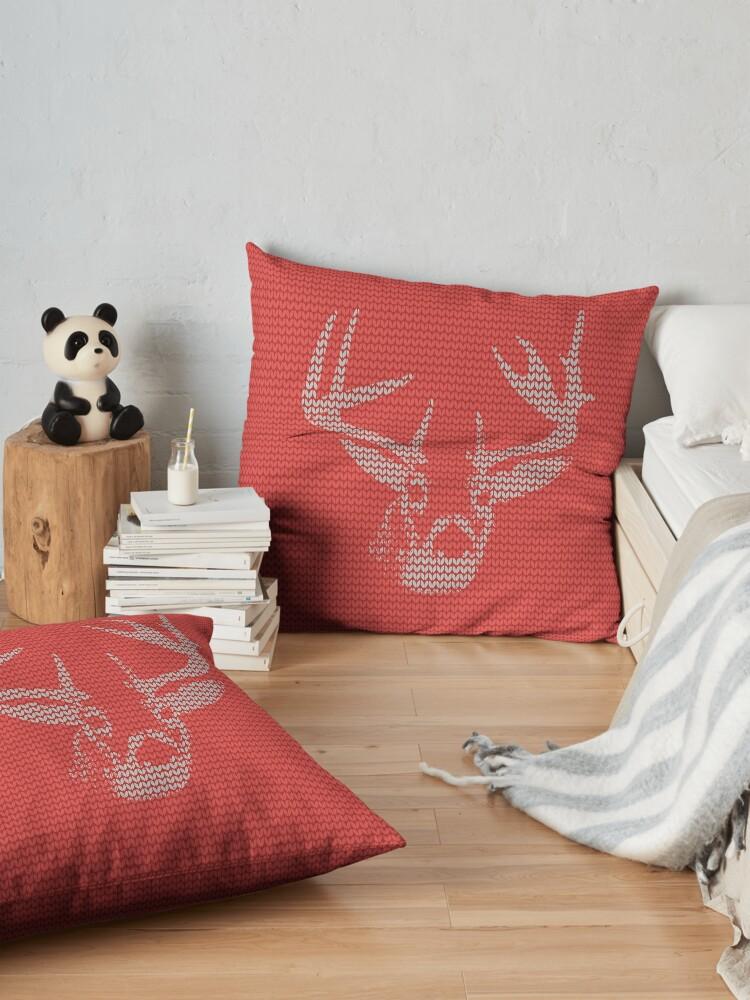 Alternate view of Knitted Reindeer Sweater Floor Pillow