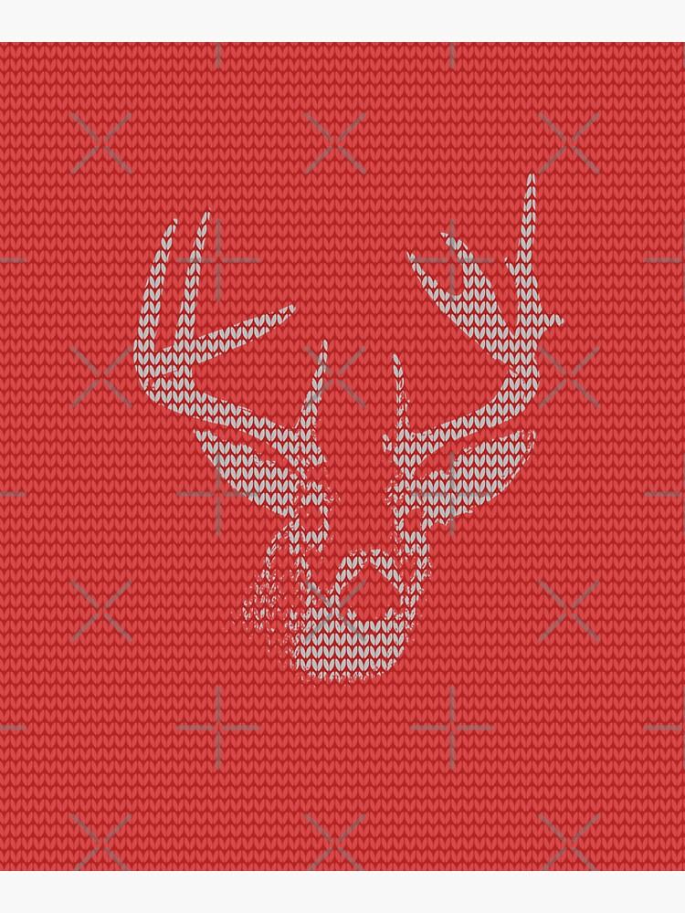 Knitted Reindeer Sweater by savesarah