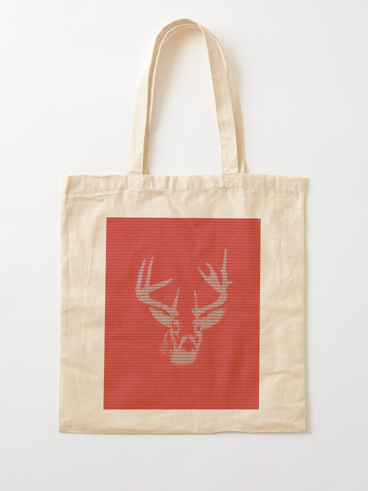 Alternate view of Knitted Reindeer Sweater Tote Bag