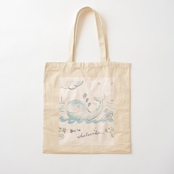 You're whalecome Cotton Tote Bag