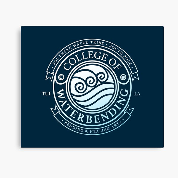 Avatar College of Waterbending, Avatar-Inspired Design Canvas Print
