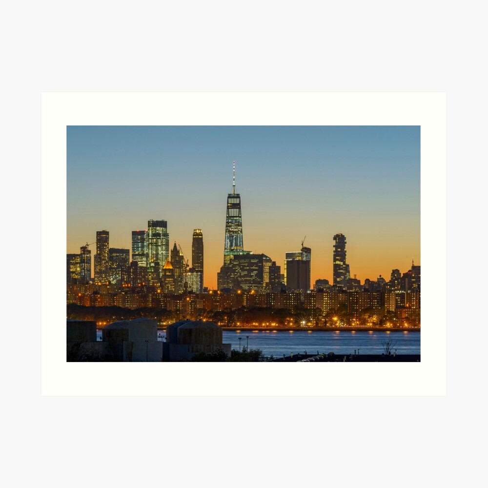 Skyline de Manhattan la nuit Impression artistique