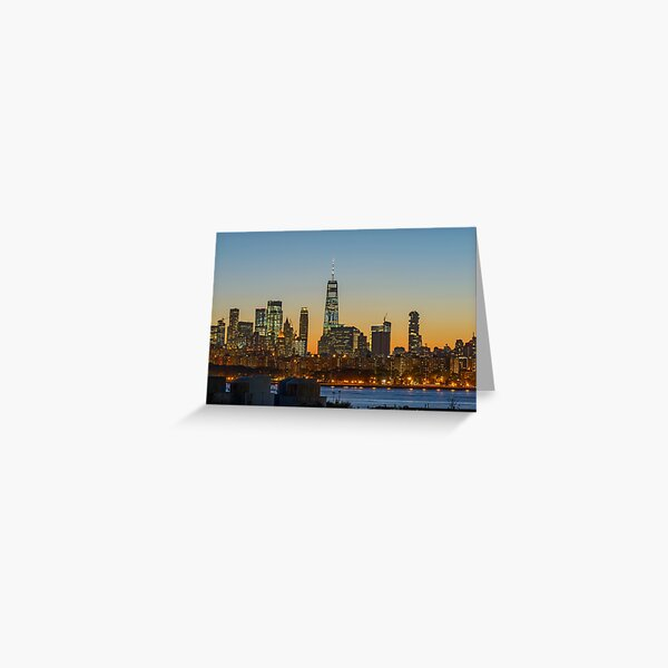 Skyline de Manhattan la nuit Carte de vœux