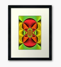 Orange and Gold Satin Folds Framed Print