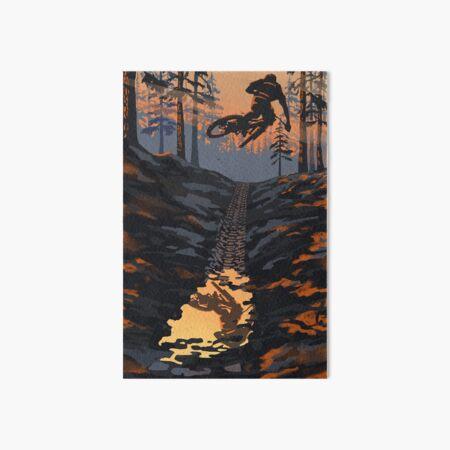 Retro styled mountain biking dirt jumper sunset Art Board Print