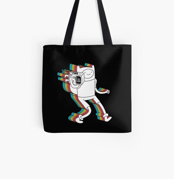 Finn and BMO All Over Print Tote Bag